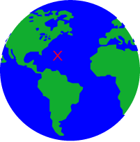 SeaMarks Earth with X LOGO