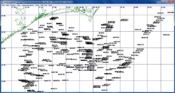 Morehead City Maps Unique points on a simple chart
