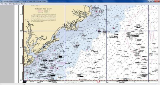 Charleston Maps Unique points on a NOAA chart