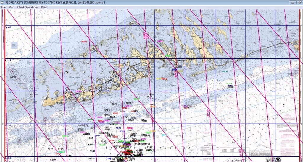 Display on a NOAA chart with TD lines