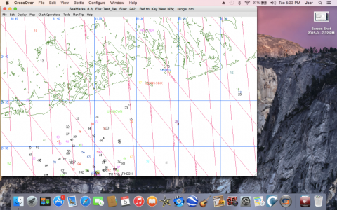 Graphical display on MAC running Yosemite with TD lines